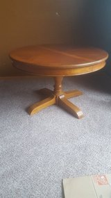 Round Solid Wood Table in Joliet, Illinois