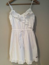 Hollister white cotton dress size S in Plainfield, Illinois
