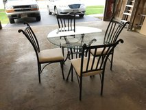 Glass Top Table w/ 4 Chairs in Algonquin, Illinois