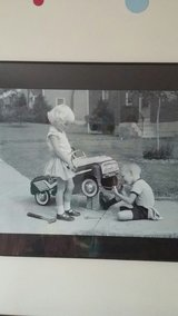 Framed black and white vintage picture in DeKalb, Illinois