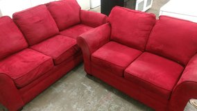 Red Sofa & Loveseat in Cherry Point, North Carolina