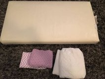 Crib Mattress, 2 Waterproof Mattress Covers, 2 Fitted Crib Sheets in Schaumburg, Illinois