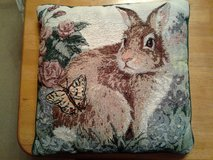 Bunny Tapestry Throw Pillow in Davis-Monthan AFB, Arizona