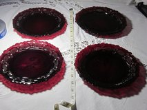 Avon dishes Cranberry red in Hampton, Virginia