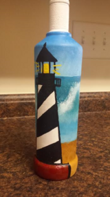 light house with waves wine bottle in Camp Lejeune, North Carolina
