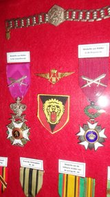 Belgian and British World War 2 medals, etc in Ramstein, Germany