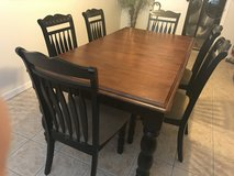 HARDWOOD DINING TABLE SEATS 6 in Tyndall AFB, Florida