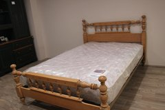 Pine Finish Bed incl. Mattress in CyFair, Texas