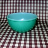 HTF VTG FIRE KING OVENWARE GREEN FIRED-ON MIXING BOWL in Naperville, Illinois