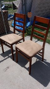 Two folding chairs in Fort Riley, Kansas