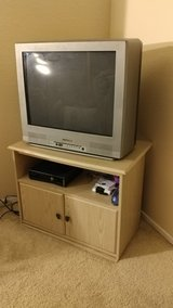 Emerson television with empty cabinet stand included. in Barstow, California