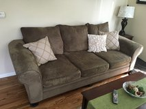 Brown/Olive Couch in Elgin, Illinois