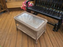 31 by 18 Brand New Outdoor Wicker Glass top Table in Naperville, Illinois