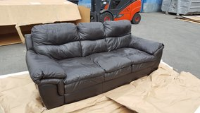 Dark brown leather couch in Ramstein, Germany