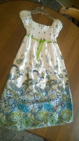 Long White w/Flowers Dress in Fort Campbell, Kentucky