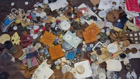 2 Tins Full of Vintage Buttons in Conroe, Texas
