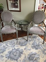 Gorgeous accent chairs and glass table in Lockport, Illinois