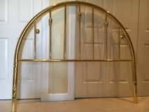 Brass Queen Headboard and Frame in St. Charles, Illinois