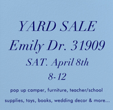 Yard sale in Columbus, Georgia