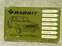 VW Rabbit owners manual, 1979 in Naperville, Illinois
