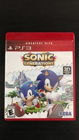 Brand New PS3 Sonic Generations in Sugar Grove, Illinois