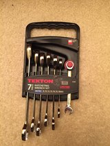 Tekton Ratcheting Combination Wrench Set Metric 7 Piece Kit Ratchet in Morris, Illinois