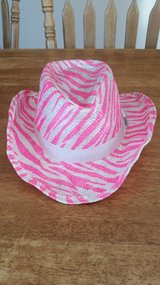 Pink & White Zebra Print Hat in Hopkinsville, Kentucky