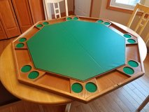 Wood poker table topper in Naperville, Illinois