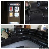 Leather sectional in Travis AFB, California