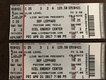 Def Leppard, Poison, and Tesla Concert Tickets in Minneapolis, Minnesota