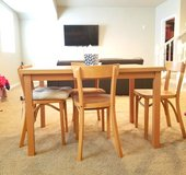 Birch table with 4 matching chairs in Fort Carson, Colorado