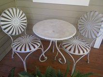 1930's Francois Carré French Sunburst Garden Chairs and Table   Set of 3 in Minneapolis, Minnesota