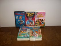 5 Walt Disney Cartoons VHS Movies in Fort Campbell, Kentucky
