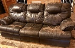 Leather Couch with Pullout Bed in Perry, Georgia