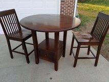 Dark Wood / Drop Side / 3 Piece Pub Table & Chair Set in Fort Campbell, Kentucky