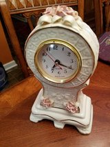 English Rose Porcelain Clock in Fort Campbell, Kentucky