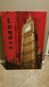Large London Picture of Big Ben in Kingwood, Texas
