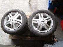 4 Ford Alloy Rims with 195/60/15 Pirelli P600 Tires in Ramstein, Germany
