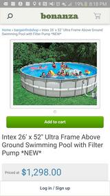 "Swimming pool quick set 26' x 52"" in Elgin, Illinois"