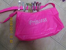 "Girls New Unused Hot Pink Vinyl Purse with ""Princess"" on the Front in Naperville, Illinois"