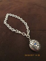 "Silver Locket Bracelet with Blue ""Gem"" in Glendale Heights, Illinois"