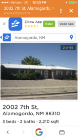 Huge Home for Sale 3 + 2 on corner lot in Alamogordo, New Mexico