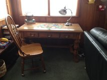 Desk with matching chair on castors in Glendale Heights, Illinois