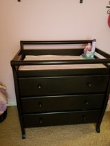 Black dresser changing table in Naperville, Illinois