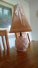 Pink lamp with blush shade in Lockport, Illinois