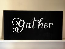 Gather Wood Sign in Fort Bragg, North Carolina