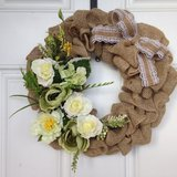 Green Hydrangea and White Rose Wreath - New Low Price in Beaufort, South Carolina