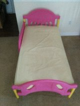 Pink toddler bed with mattress in Batavia, Illinois