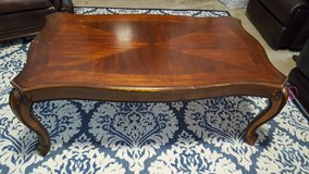 Solid wood coffee table in Eglin AFB, Florida
