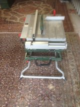Table Saw with wheeled scissor stand--220v in Ramstein, Germany